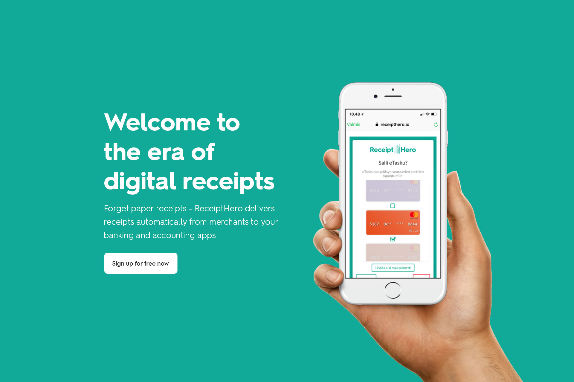 Receipt Hero visuaalinen ilme